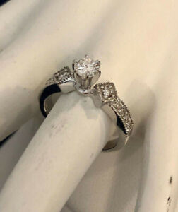 14K Gold Custom Crafted Diamond Engagement Ring^Compare at $2900