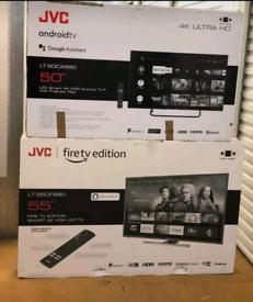BRAND NEW SMART TV JVC 4K UHD FIRE EDITION CHEAP ALL SIZES 1YR WARNTY