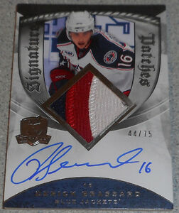 Derick Brassard , 2008-09 The Cup Signature Patches , 44/75 Gatineau Ottawa / Gatineau Area image 1