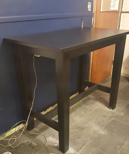 Bar size table with 2 chairs