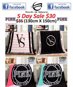 Pink & Victoria Secret Blankets (5 DAY SALE)
