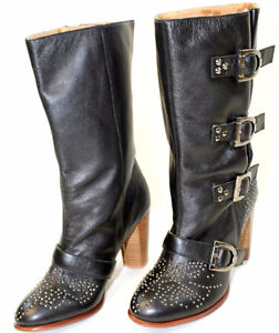 NEW Rough Justice Studded Leather Riding Boots, size 6