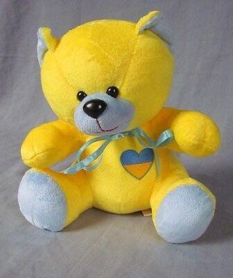 Ukrainian Teddy Bear, Blue and Yellow, Tryzub, Souvenir, Ribbon, Kids, 9