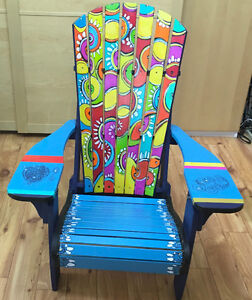 Hand Built & Painted Reg.& Kid-sized Muskoka Chair-ity Auction!