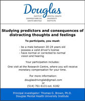 Seeking research participants for driving study