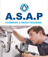 CALL A.S.A.P plumbing & drain cleaning before YOU OVERPAY