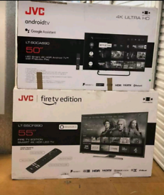"""BRAND NEW JVC 4K FIRE TV EDITION 43 50"""" AND 55"""" SMART TV 1 YR WARRANTY"""