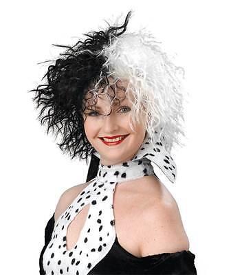 Cruella De Ville Kostüm Perücke Party Perücke, - Cruella Deville Perücken
