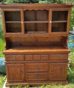 CHINA CABINET, real wood (used)