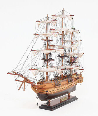 """USS Constitution Wooden Tall Ship Model 22"""" Built Old Ironsides Boat"""