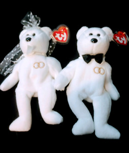 RARE Official 2000 and Wedding Beanie Babies - protected tags