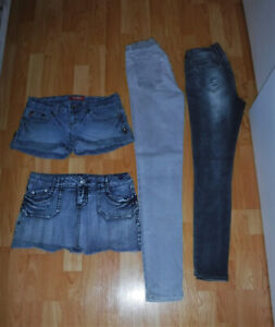 Jeans Short Jupe taille 3