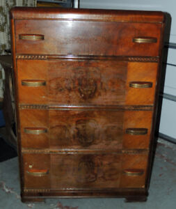 Antique Dresser with single Bed