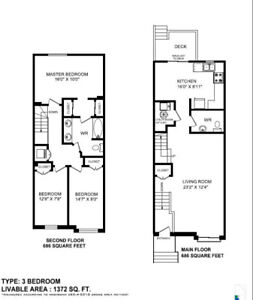 3 Bedroom Townhouse Available