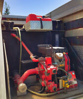 Water Pump and Tank on Skid