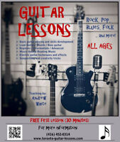 Guitar/Bass lessons in your home; FREE first 30 minute lesson