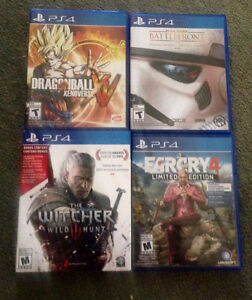 PlayStation 4 games + n64 games sale/trade
