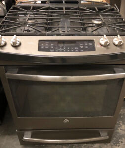"""30"""" GE profile slide in convection gas Stove $1499!!! tor as**"""