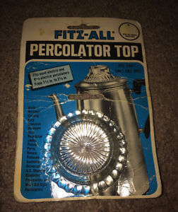 Vintage 1980 Fitz-All Percolator Top 1.5 Inches to 2.5 Inches
