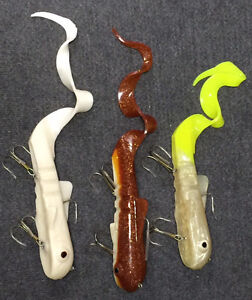 """Bulldog Muskie / Pike Lures - 1 lb. - 10"""" Body with 6"""" Curlytail"""
