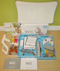 Nintendo Wii  system with games and Balance Board