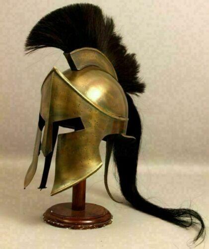 300 Leonidas Spartan Helmet Armor Helmet Costume Steel Spartan Helmet With plume
