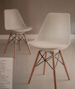 *BRAND NEW * DINING ROOM / OFFICE White Chairs *2-pack*