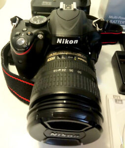 Nikon D5100 + 18-70 Lens, Strap, Battery+Charger, SD, etc.