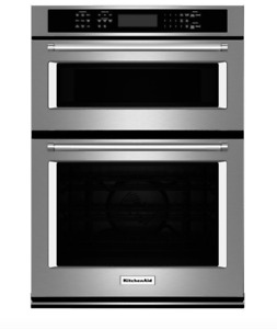 Kitchen Aid 30in Microwave Wall Oven Combo