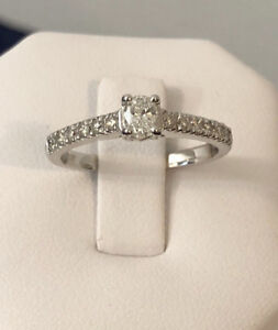 14k white gold diamond engagement/promise ring*Compare at $1.900