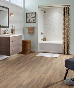 Porcelain tile that looks like wood.6x24 only $1.59""