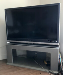 "50"" TV with Silver Base/Stand for Storage - excellent condition!"