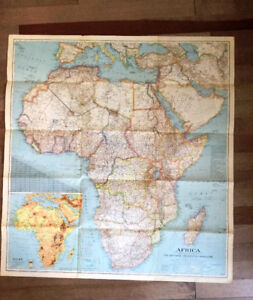 Carte Afrique 1943 National Geographic