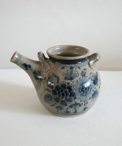 Japanese Style Stoneware Teapot w/ Pig Snout Spout Made in B.C.