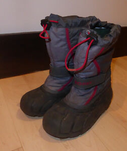 Sorel winter boots, US youth size 1, good used condition