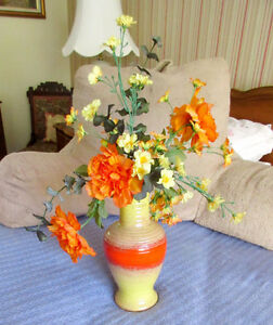 Artificial Flower Arrangement in a Pottery Vase (Italy)