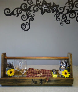 Rustic tool box with a vintage look!