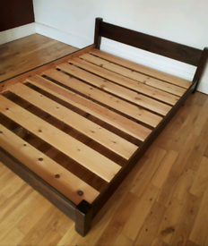 """Low Japanese-style Bed Frame 4'6"""""""