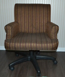 Upholstered Chair on Wheels