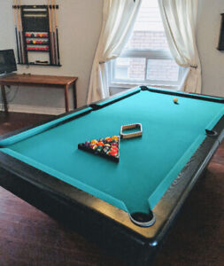 Pool Table with Accessories and Ping Pong top