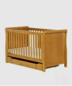 Mothercare Chiltern Cot Bed Antique with Under Bed Storage Drawer