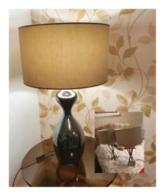 Stunning Modern Bedside and Large Table Lamps in Like New Condition