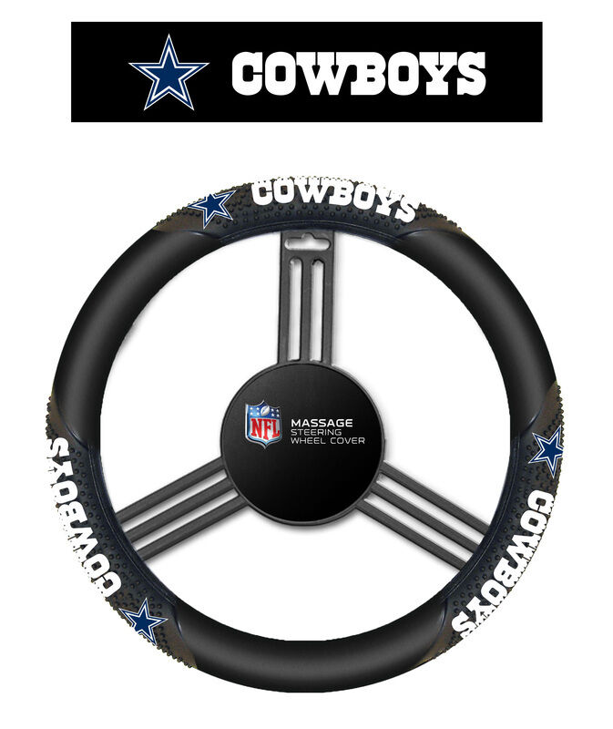 Fremont Die NFL Dallas Cowboys Massage Grip Steering Wheel C