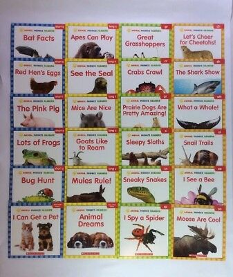 Animals Phonics Children's Books Level C D E F Leveled Readers Lot 24