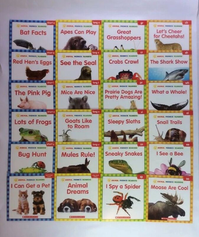Animals Phonics Children's Books Level C D E F Leveled Readers Lot 24