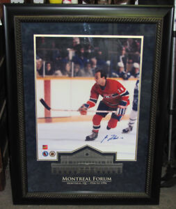 "Guy Lafleur Signed Photo in Beautiful 25"" x 33"" Frame"