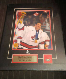 Mario Lemieux, Martin Brodeur - Gold Medal Champion Pics Matted
