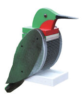 Hummingbird shaped bird feeder
