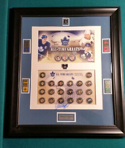Leafs All-Time Greats Medallions w/ W.Clark Autograph & more