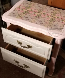 Refinished French Provincial Nightstand